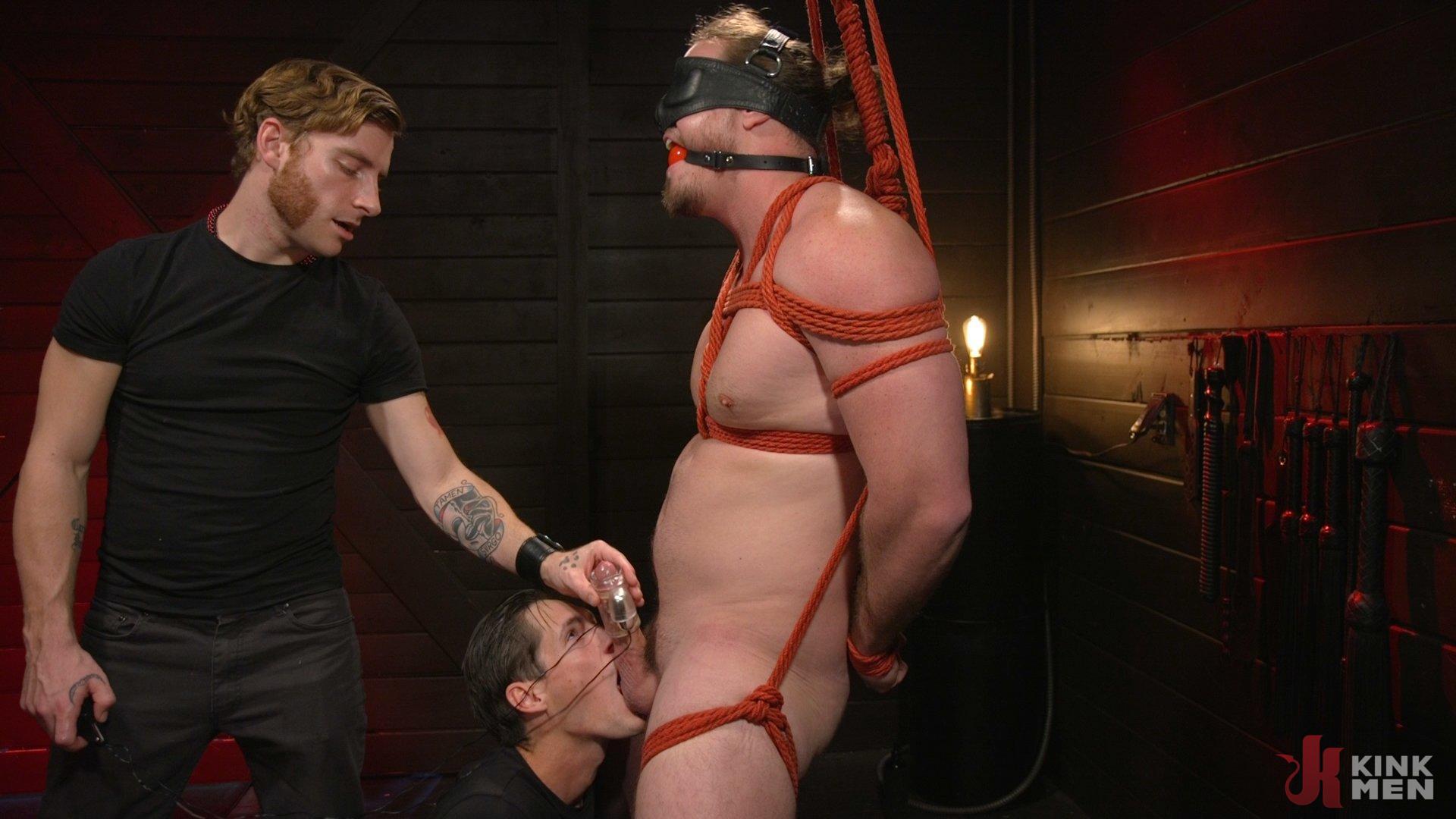 Photo number 5 from Back For More: Kip Johnson Returns For Aggressive Cockhandling shot for Men On Edge on Kink.com. Featuring Kip Johnson in hardcore BDSM & Fetish porn.