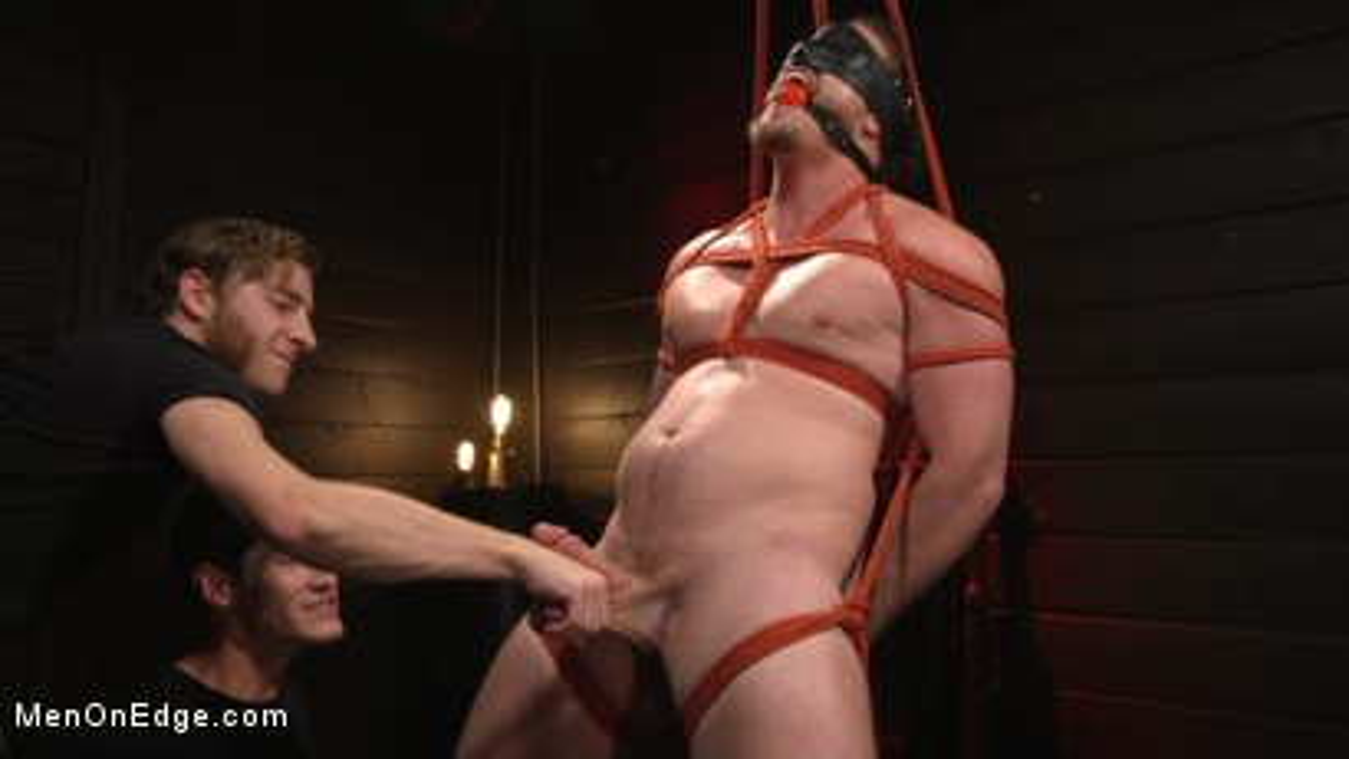 Photo number 7 from Back For More: Kip Johnson Returns For Aggressive Cockhandling shot for Men On Edge on Kink.com. Featuring Kip Johnson in hardcore BDSM & Fetish porn.