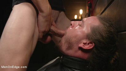 Photo number 13 from Back For More: Kip Johnson Returns For Aggressive Cockhandling shot for Men On Edge on Kink.com. Featuring Kip Johnson in hardcore BDSM & Fetish porn.