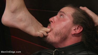 Photo number 18 from Back For More: Kip Johnson Returns For Aggressive Cockhandling shot for Men On Edge on Kink.com. Featuring Kip Johnson in hardcore BDSM & Fetish porn.