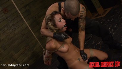 Photo number 6 from Marina Angel is Challenged with Rope Bondage, Sybian, Deepthroat, PIV shot for Sexual Disgrace on Kink.com. Featuring Marina Angel and Bruno Dickemz in hardcore BDSM & Fetish porn.