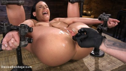 Photo number 12 from Angela White Begs to Suffer For Her Master in Metal Bondage shot for Device Bondage on Kink.com. Featuring Angela White in hardcore BDSM & Fetish porn.