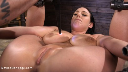Photo number 11 from Angela White Begs to Suffer For Her Master in Metal Bondage shot for Device Bondage on Kink.com. Featuring Angela White in hardcore BDSM & Fetish porn.