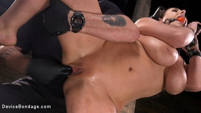 Photo number 4 from Angela White Begs to Suffer For Her Master in Metal Bondage shot for Device Bondage on Kink.com. Featuring Angela White in hardcore BDSM & Fetish porn.