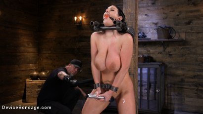 Photo number 5 from Angela White Begs to Suffer For Her Master in Metal Bondage shot for Device Bondage on Kink.com. Featuring Angela White in hardcore BDSM & Fetish porn.