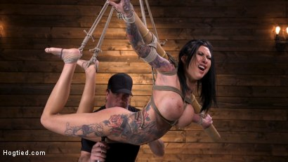 Photo number 7 from Tattooed Slut Brutalized in Bondage and has Squirting Orgasms shot for Hogtied on Kink.com. Featuring Lily Lane in hardcore BDSM & Fetish porn.