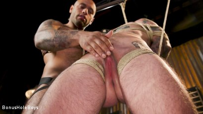Photo number 4 from Hunky FTM Tech Nerd Sexually Submits in Rope shot for Bonus Hole Boys on Kink.com. Featuring Viktor Belmont and Leo Forte in hardcore BDSM & Fetish porn.