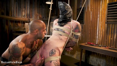 Photo number 5 from Hunky FTM Tech Nerd Sexually Submits in Rope shot for Bonus Hole Boys on Kink.com. Featuring Viktor Belmont and Leo Forte in hardcore BDSM & Fetish porn.