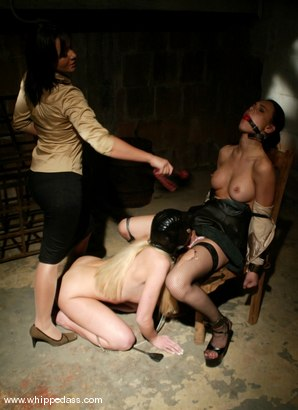 Photo number 8 from The Prostitute shot for Whipped Ass on Kink.com. Featuring Sandra Romain, Kelly Wells and Victoria Sin in hardcore BDSM & Fetish porn.
