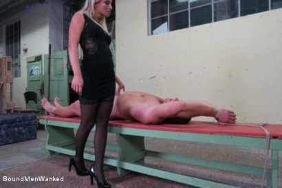 Photo number 1 from Victoria Pure has a Toyboy to Play with  shot for Bound Men Wanked on Kink.com. Featuring Victoria Pure and Alex in hardcore BDSM & Fetish porn.
