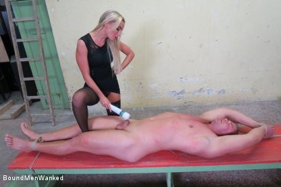 Photo number 16 from Victoria Pure has a Toyboy to Play with  shot for Bound Men Wanked on Kink.com. Featuring Victoria Pure and Alex in hardcore BDSM & Fetish porn.