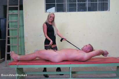 Photo number 18 from Victoria Pure has a Toyboy to Play with  shot for Bound Men Wanked on Kink.com. Featuring Victoria Pure and Alex in hardcore BDSM & Fetish porn.