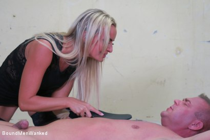 Photo number 19 from Victoria Pure has a Toyboy to Play with  shot for Bound Men Wanked on Kink.com. Featuring Victoria Pure and Alex in hardcore BDSM & Fetish porn.