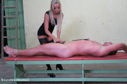 Photo number 20 from Victoria Pure has a Toyboy to Play with  shot for Bound Men Wanked on Kink.com. Featuring Victoria Pure and Alex in hardcore BDSM & Fetish porn.
