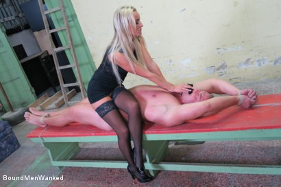 Photo number 24 from Victoria Pure has a Toyboy to Play with  shot for Bound Men Wanked on Kink.com. Featuring Victoria Pure and Alex in hardcore BDSM & Fetish porn.
