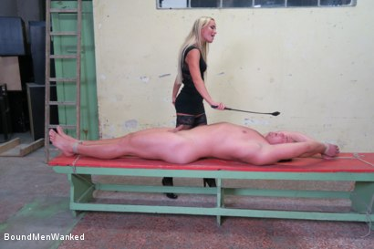 Photo number 5 from Victoria Pure has a Toyboy to Play with  shot for Bound Men Wanked on Kink.com. Featuring Victoria Pure and Alex in hardcore BDSM & Fetish porn.