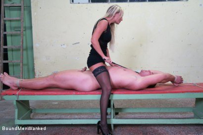 Photo number 7 from Victoria Pure has a Toyboy to Play with  shot for Bound Men Wanked on Kink.com. Featuring Victoria Pure and Alex in hardcore BDSM & Fetish porn.