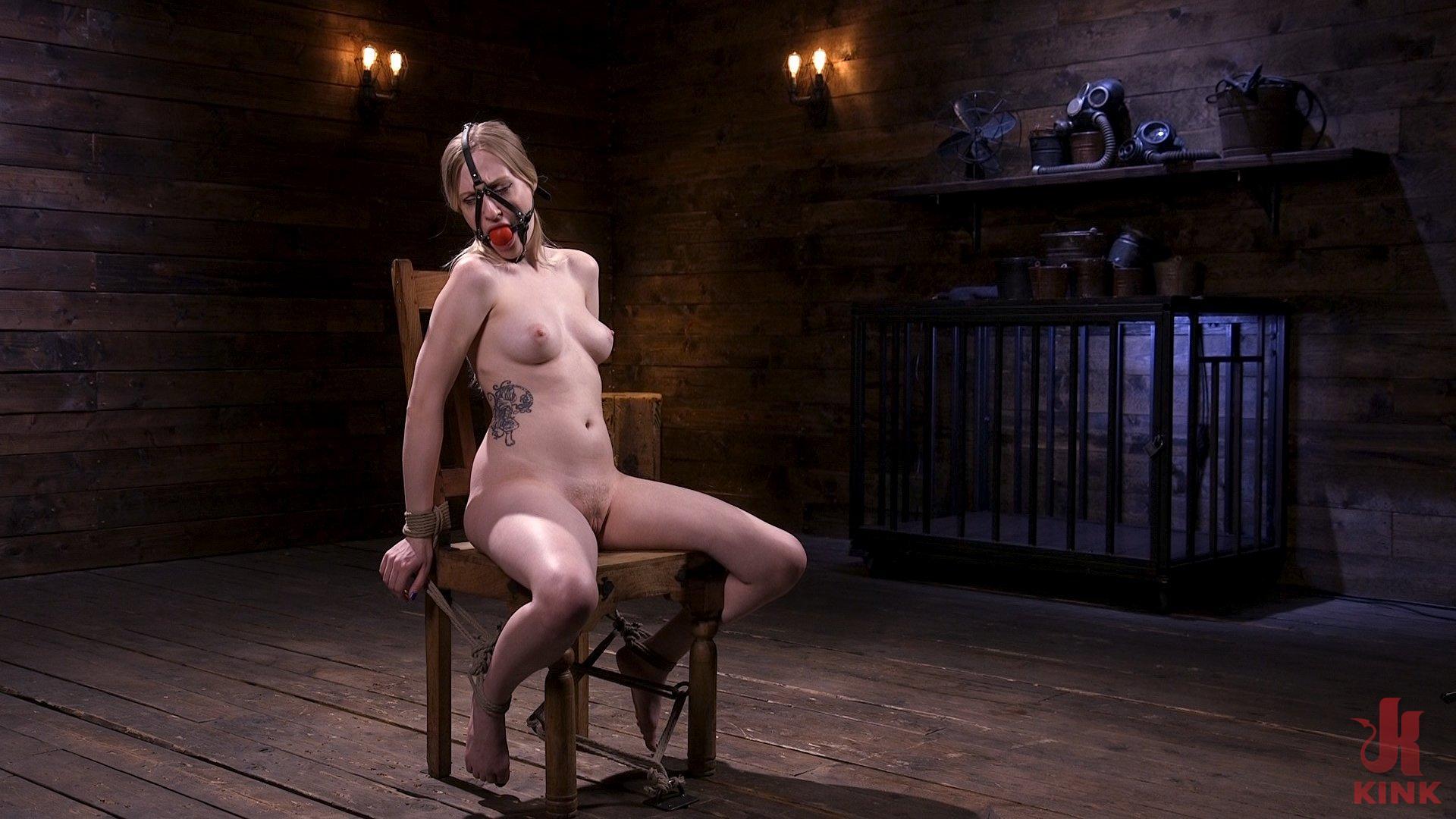 Photo number 2 from Sassy Pain Slut Gets Tormented in Bondage shot for Hogtied on Kink.com. Featuring Violet October in hardcore BDSM & Fetish porn.