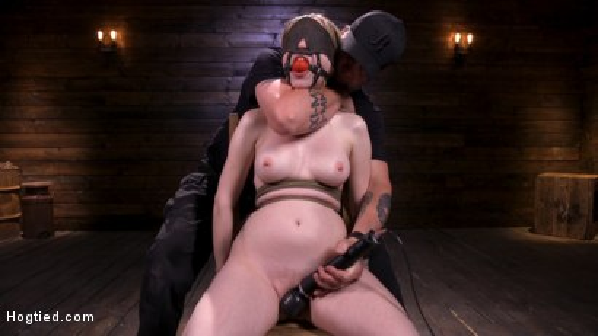 Photo number 6 from Sassy Pain Slut Gets Tormented in Bondage shot for Hogtied on Kink.com. Featuring Violet October in hardcore BDSM & Fetish porn.