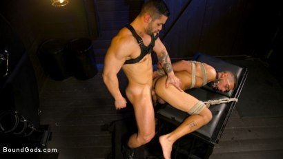 Photo number 11 from Arad's New Boy: Ricky Daniels Serves The House shot for Bound Gods on Kink.com. Featuring Arad Winwin and Ricky Daniels in hardcore BDSM & Fetish porn.