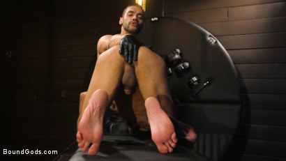 Photo number 2 from Arad's New Boy: Ricky Daniels Serves The House shot for Bound Gods on Kink.com. Featuring Arad Winwin and Ricky Daniels in hardcore BDSM & Fetish porn.