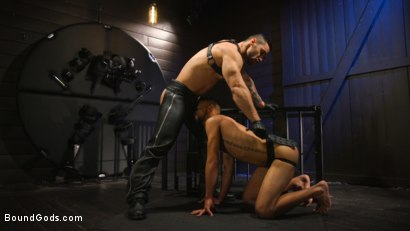 Photo number 17 from Arad's New Boy: Ricky Daniels Serves The House shot for Bound Gods on Kink.com. Featuring Arad Winwin and Ricky Daniels in hardcore BDSM & Fetish porn.