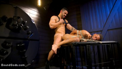 Photo number 5 from Arad's New Boy: Ricky Daniels Serves The House shot for Bound Gods on Kink.com. Featuring Arad Winwin and Ricky Daniels in hardcore BDSM & Fetish porn.
