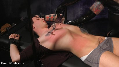 Photo number 4 from Beast Feast shot for Bound Gods on Kink.com. Featuring Jack Dixon and Luka Sage in hardcore BDSM & Fetish porn.