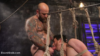 Photo number 32 from Beast Feast shot for Bound Gods on Kink.com. Featuring Jack Dixon and Luka Sage in hardcore BDSM & Fetish porn.