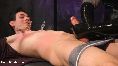 Photo number 5 from Beast Feast shot for Bound Gods on Kink.com. Featuring Jack Dixon and Luka Sage in hardcore BDSM & Fetish porn.