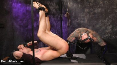 Photo number 12 from Beast Feast shot for Bound Gods on Kink.com. Featuring Jack Dixon and Luka Sage in hardcore BDSM & Fetish porn.