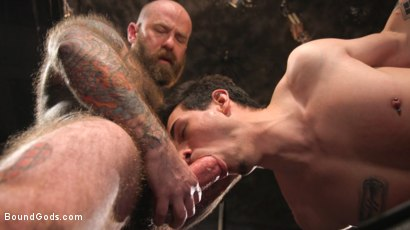 Photo number 16 from Beast Feast shot for Bound Gods on Kink.com. Featuring Jack Dixon and Luka Sage in hardcore BDSM & Fetish porn.