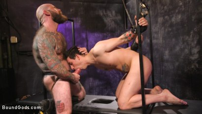 Photo number 18 from Beast Feast shot for Bound Gods on Kink.com. Featuring Jack Dixon and Luka Sage in hardcore BDSM & Fetish porn.