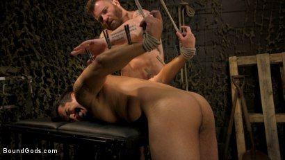Photo number 10 from Interrogation 431: Hiker Tony Prower questioned by Riley Mitchell shot for Bound Gods on Kink.com. Featuring Riley Mitchell  and Tony Prower in hardcore BDSM & Fetish porn.