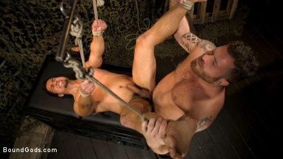 Photo number 3 from Interrogation 431: Hiker Tony Prower questioned by Riley Mitchell shot for Bound Gods on Kink.com. Featuring Riley Mitchell  and Tony Prower in hardcore BDSM & Fetish porn.