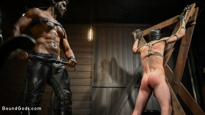Photo number 9 from OBEDIENCE TRAINING Devin Trez Disciplines New Dog with Intense Bondage shot for Bound Gods on Kink.com. Featuring Tony Orlando and Devin Trez in hardcore BDSM & Fetish porn.