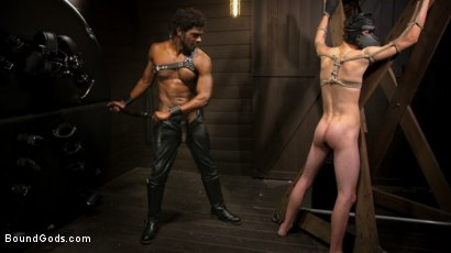 Photo number 10 from OBEDIENCE TRAINING Devin Trez Disciplines New Dog with Intense Bondage shot for Bound Gods on Kink.com. Featuring Tony Orlando and Devin Trez in hardcore BDSM & Fetish porn.