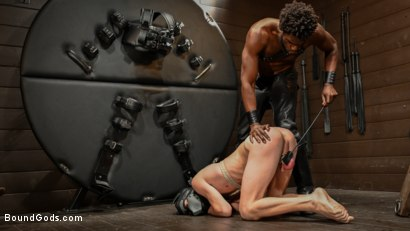 Photo number 13 from OBEDIENCE TRAINING Devin Trez Disciplines New Dog with Intense Bondage shot for Bound Gods on Kink.com. Featuring Tony Orlando and Devin Trez in hardcore BDSM & Fetish porn.