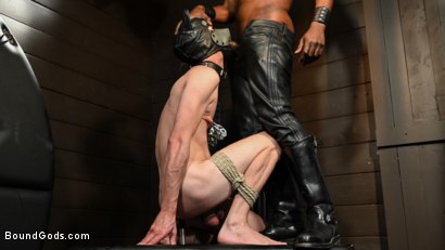 Photo number 14 from OBEDIENCE TRAINING Devin Trez Disciplines New Dog with Intense Bondage shot for Bound Gods on Kink.com. Featuring Tony Orlando and Devin Trez in hardcore BDSM & Fetish porn.