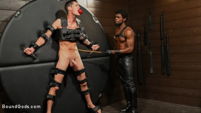 Photo number 3 from OBEDIENCE TRAINING Devin Trez Disciplines New Dog with Intense Bondage shot for Bound Gods on Kink.com. Featuring Tony Orlando and Devin Trez in hardcore BDSM & Fetish porn.
