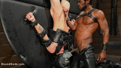 Photo number 5 from OBEDIENCE TRAINING Devin Trez Disciplines New Dog with Intense Bondage shot for Bound Gods on Kink.com. Featuring Tony Orlando and Devin Trez in hardcore BDSM & Fetish porn.