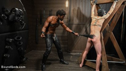 Photo number 7 from OBEDIENCE TRAINING Devin Trez Disciplines New Dog with Intense Bondage shot for Bound Gods on Kink.com. Featuring Tony Orlando and Devin Trez in hardcore BDSM & Fetish porn.