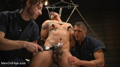 Photo number 13 from ...But Your Dick Says Yes: Tony Prower Edged In Full Suspension shot for Men On Edge on Kink.com. Featuring Tony Prower in hardcore BDSM & Fetish porn.