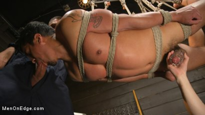 Photo number 24 from ...But Your Dick Says Yes: Tony Prower Edged In Full Suspension shot for Men On Edge on Kink.com. Featuring Tony Prower in hardcore BDSM & Fetish porn.
