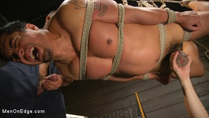 Photo number 25 from ...But Your Dick Says Yes: Tony Prower Edged In Full Suspension shot for Men On Edge on Kink.com. Featuring Tony Prower in hardcore BDSM & Fetish porn.