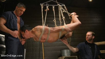 Photo number 18 from ...But Your Dick Says Yes: Tony Prower Edged In Full Suspension shot for Men On Edge on Kink.com. Featuring Tony Prower in hardcore BDSM & Fetish porn.