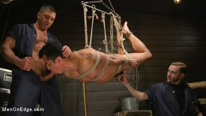 Photo number 19 from ...But Your Dick Says Yes: Tony Prower Edged In Full Suspension shot for Men On Edge on Kink.com. Featuring Tony Prower in hardcore BDSM & Fetish porn.