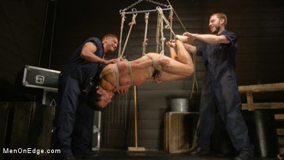 Photo number 26 from ...But Your Dick Says Yes: Tony Prower Edged In Full Suspension shot for Men On Edge on Kink.com. Featuring Tony Prower in hardcore BDSM & Fetish porn.
