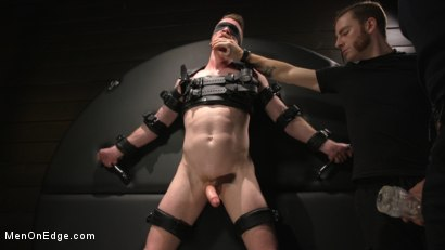 Photo number 17 from Inside, Sideways, Upside Down: Nick Fitt Gets Edged Every Which Way shot for Men On Edge on Kink.com. Featuring Nick Fitt in hardcore BDSM & Fetish porn.