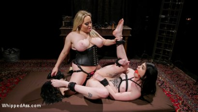 Photo number 18 from Lydia Black is Aiden Starr's Pain Piggy shot for Whipped Ass on Kink.com. Featuring Aiden Starr and Lydia Black in hardcore BDSM & Fetish porn.